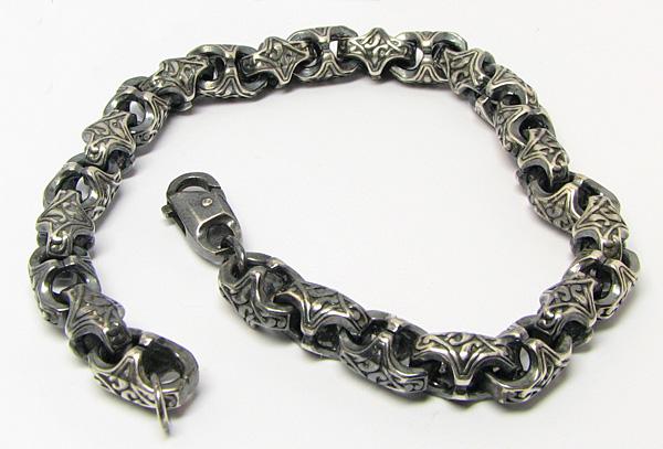 серебреный браслеты мужские | Взволнованный